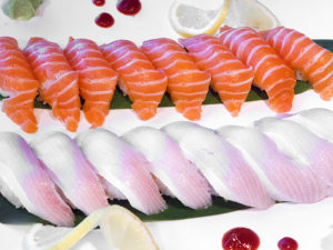 Salmon and Yellow Tail Sushi
