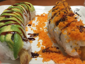 Caterpillar and Crunch Sushi Rolls