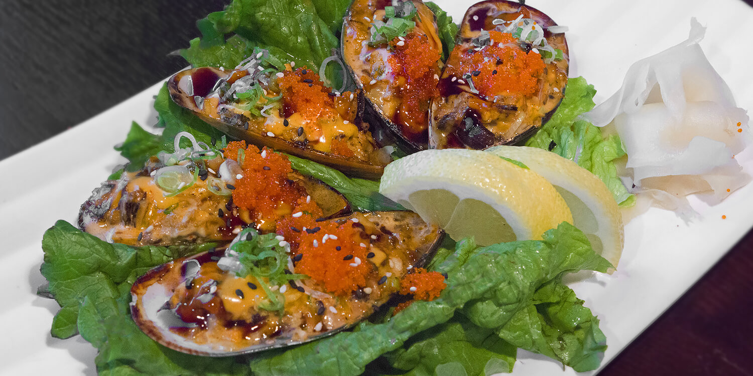 iSushi - Baked Mussels